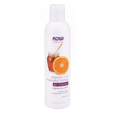 NOW Solutions Vitamin C & Manuka Honey Gel Cleanser