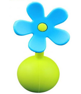 Haakaa Silicone Breast Pump Blue Flower Stopper