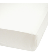 Perlimpinpin Cotton Muslin Fitted Crib Sheet White
