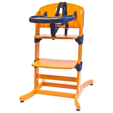 Guzzie & Guss Banquet Wooden High-Chair Orange