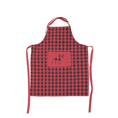 Domay Buffalo Check Moose Apron