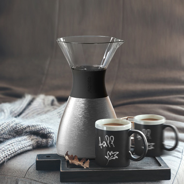 Asobu Pour Over Insulated Coffee Maker Silver