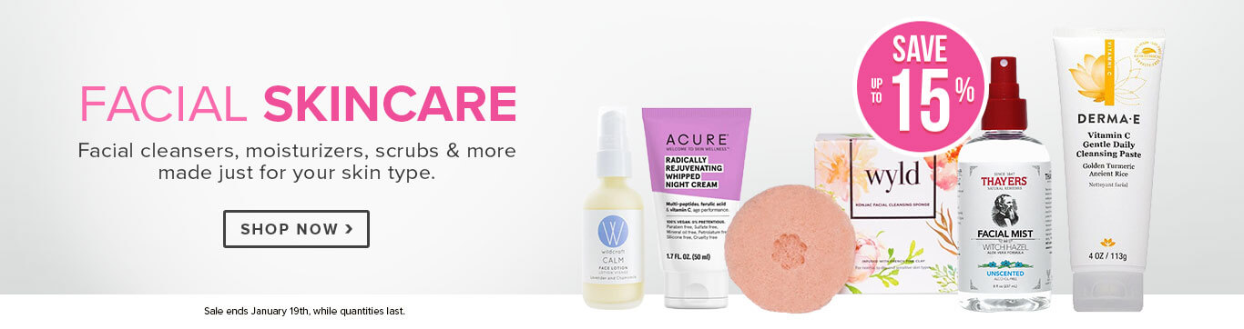 Save up to 15% On Facial Skincare