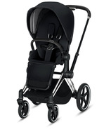 Cybex Priam Chrome Black Frame with Premium Black Seat Pack