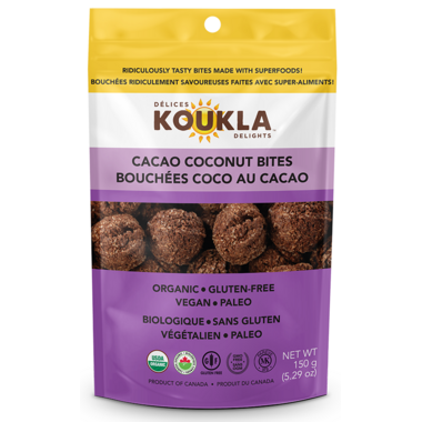 Koukla Delights Cacao Coconut Bites