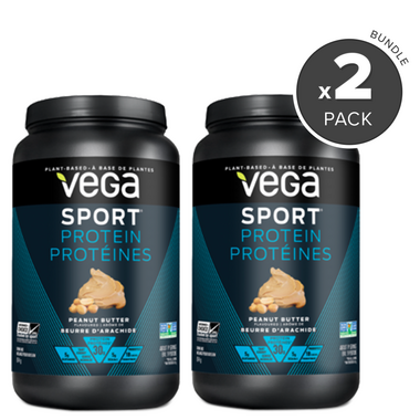 Vega Sport Protein Peanut Butter Flavour 2 Pack Bundle