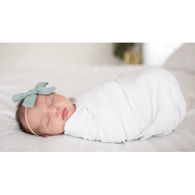 Copper Pearl Dove Swaddle Blanket