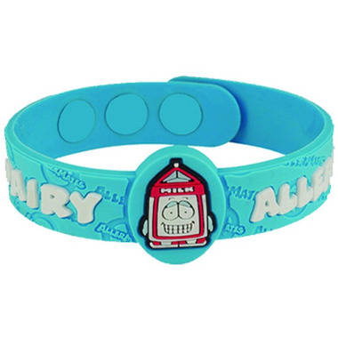 Allermates Allergy Awarness Wristband for Dairy