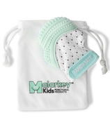 Malarkey Kids Munch Mitt Teething Mitten Mint Green Triangles