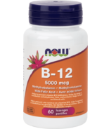 NOW Foods Vitamin B-12 Lozenges with Folic Acid