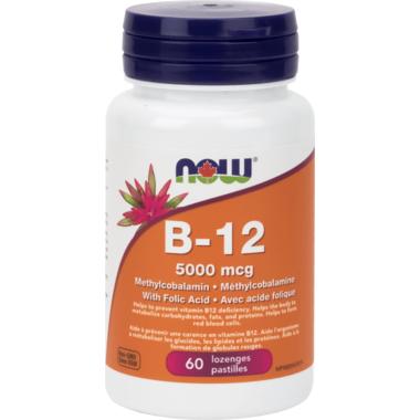 NOW Foods Vitamin B-12 Lozenges with Folic Acid
