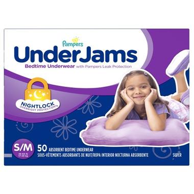 Pampers UnderJams Bedtime Girls Underwear