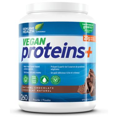 Genuine Health Vegan Proteins+ Powder Natural Chocolate