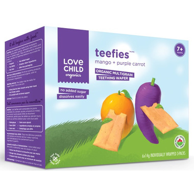 Love Child Organics Teefies Wafers Mango and Purple Carrot