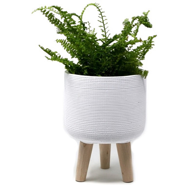 Natural Living Standing Planter Small White