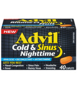 Advil Cold & Sinus Nighttime Caplets