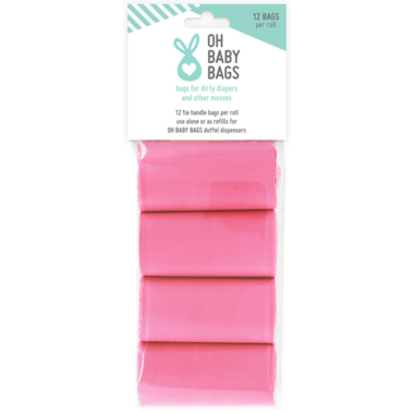Oh Baby Bags Refill Rolls Pink