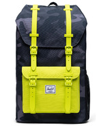 Herschel Supply Herschel Little America Youth Night Camo & Lime Punch