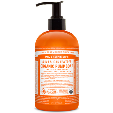 Dr. Bronner\'s 4-in-1 Sugar Tea Tree Organic Pump Soap