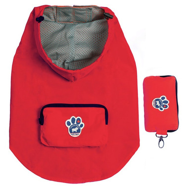 Canada Pooch Pacific Poncho in Red Sizes 22-24