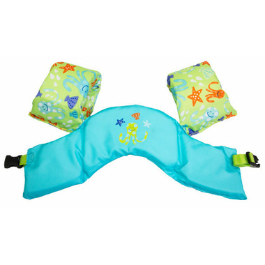 Sea Squirts Swim Trainer Life Jacket Green Octopus