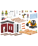 Playmobil City Action Mini Excavator with Building Section