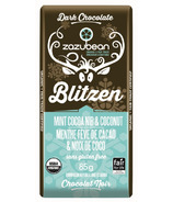 zazubean Blitzen Mint Cocoa Nibs & Coconut Dark Chocolate