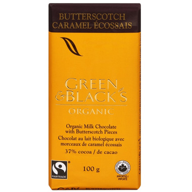 Green & Black\'s Organic Milk Chocolate Butterscotch Bar