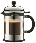 Bodum Chambord Locking Lid French Press Shiny Stainless Steel