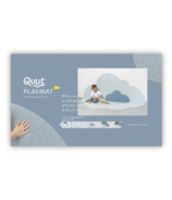 QUUT Head in the Clouds Large Playmat Dusty Blue