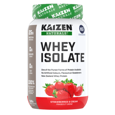 Kaizen Naturals Whey Isolate Protein Strawberries & Cream