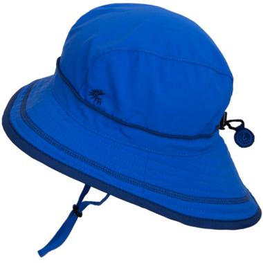 Calikids Quick-Dry Bucket Hat Extra Wide Brim Nautical Blue