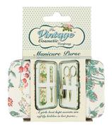 The Vintage Cosmetics Company Manicure Purse Floral
