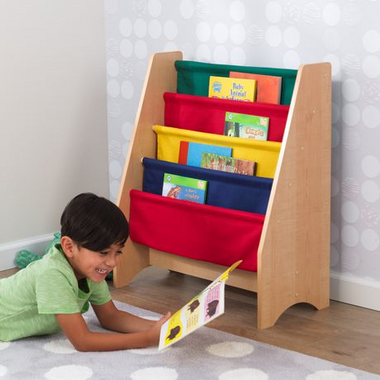 KidKraft Sling Bookshelf Primary Colours