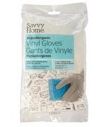 Savvy Home Hypoallergenic Vinyl Gloves Medium/Large