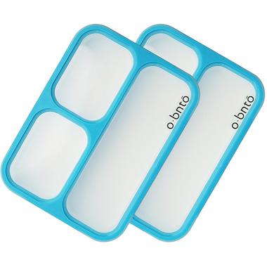 o bnto Bento Box 3 Compartment Blue Value Pack