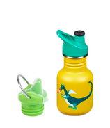Klean Kanteen Dragon Snack Kid Classic Sport + Sippy Cap Bundle