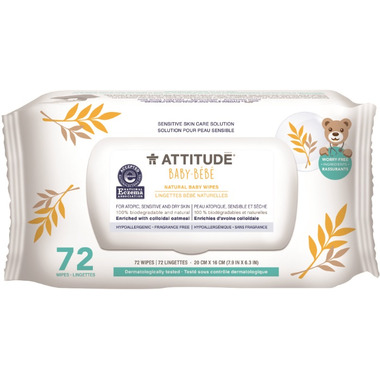 ATTITUDE Natural Baby Wipes