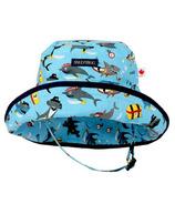 Snug As A Bug Sharks Ahoy Adjustable Sun Hat