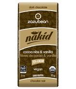 zazubean Nakid Cocoa Nibs & Vanilla 73% Dark Chocolate
