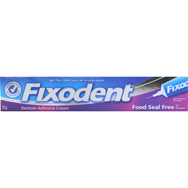Fixodent Denture Food Seal Free Adhesive Cream