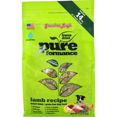 Grandma Lucy\'s Pureformance Lamb Freeze-Dried Grain-Free Dog Food