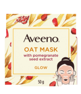 Aveeno Glow Face Mask with Oat and Pomegranate Seed Extract