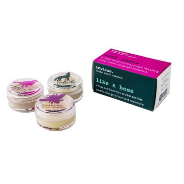 Routine De-Odor-Cream Natural Deodorant 3 Scent Sample Pack