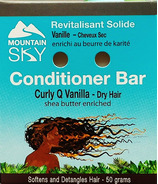 Mountain Sky Curly Q Vanilla Conditioner Bar
