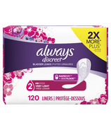 Always Discreet Incontinence Liners Very Light Absorbency Regular Length