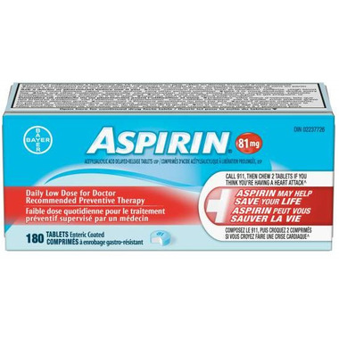 Aspirin 81mg Daily Low Dose Large Bottle