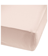 Perlimpinpin Dusty Rose Bamboo Crib Fitted Sheet