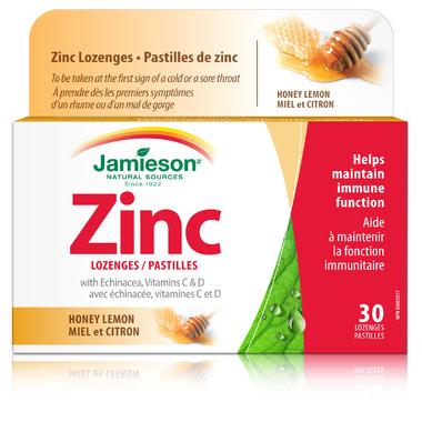 Buy Jamieson Zinc Lozenges With Vitamin C And Echinacea At Well Ca