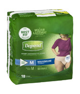 Depend FIT-FLEX Incontinence Underwear for Women Maximum Absorbency Medium